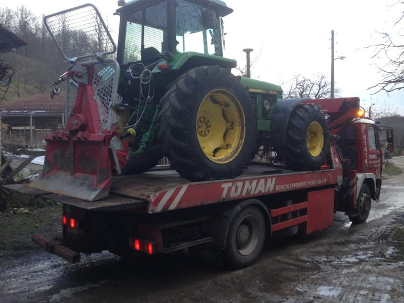 Трактор John Deere Транспорт на трактори